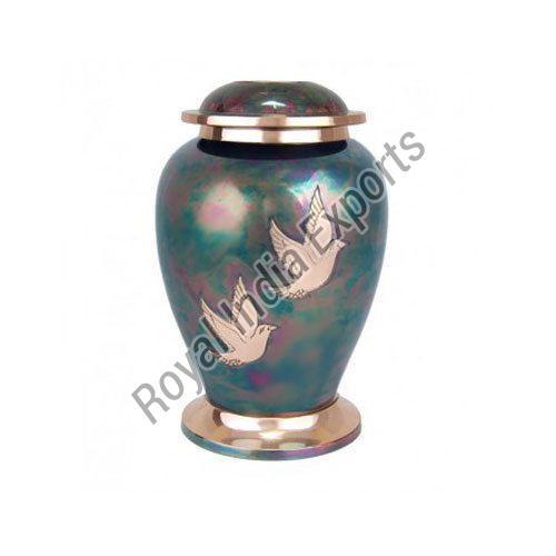 Birds Printed Brass Urn
