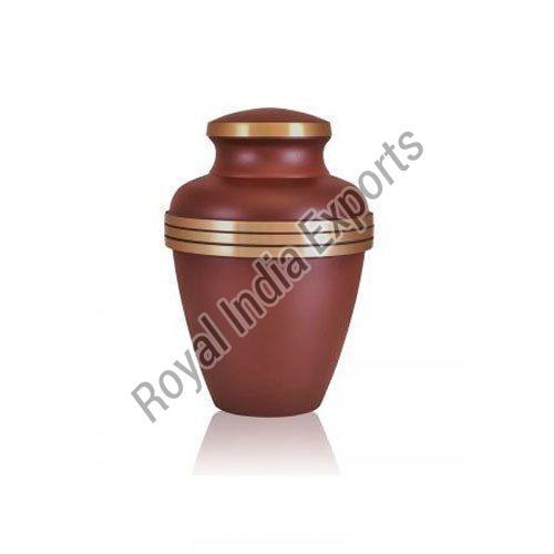 Brown Brass Urn