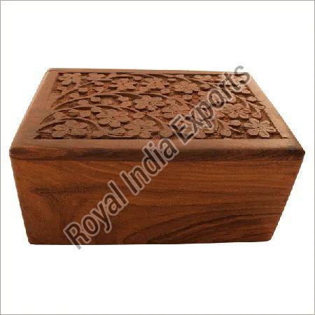 Decorative Carved Wood Urn