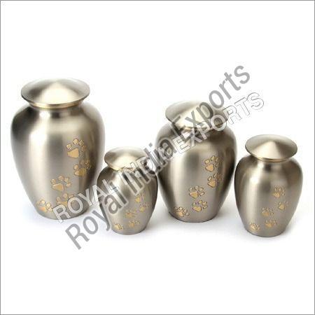 Paw Print Brass Urn