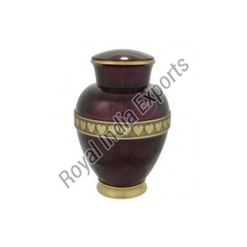 Purple Heart Print Brass Urn