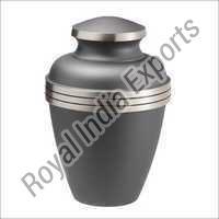 Rustic Grey Brass Urn