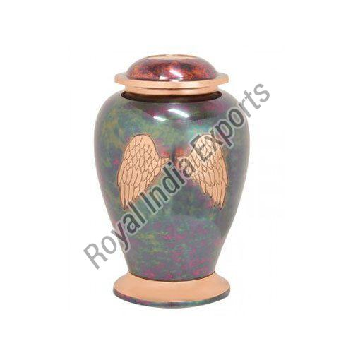 Wings Print Brass Urn