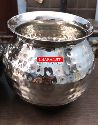 Stainless Steel Hammered Lota