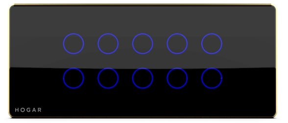 Ten Touch Switch Panel