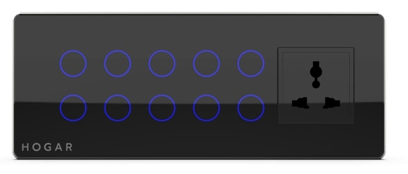 Ten Touch Switch Panel with One Socket