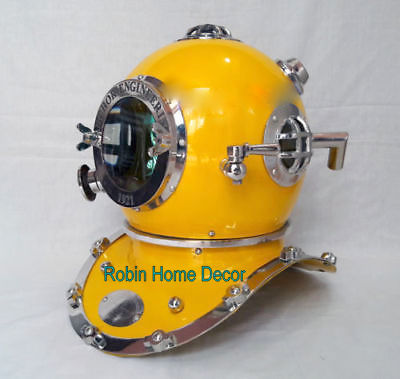 Antique Yellow Diving Helmet
