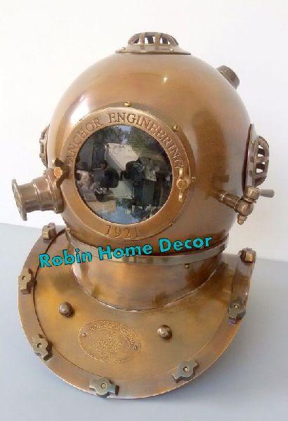 Brass Antique Divers Diving Helmet
