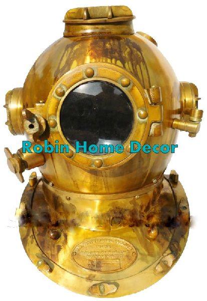 Brass Scuba Diving Helmet