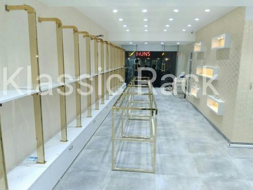 Golden FInish Garment Display Rack