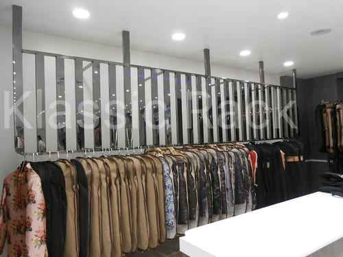 High Gloss Garment Display Rack