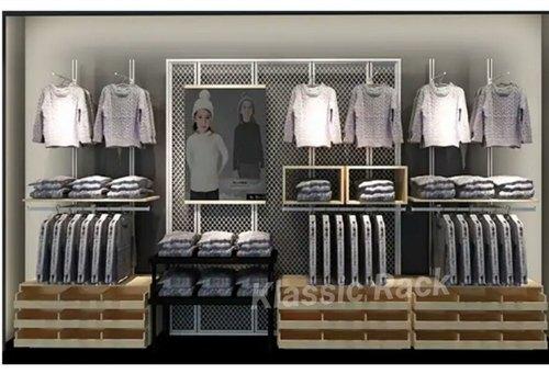Shopping Mall Garment Display Rack