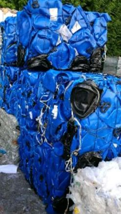 HDPE Blue Drum Scrap