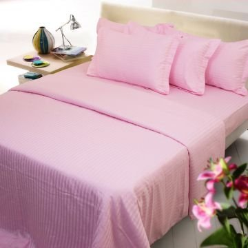Striped Cotton Bed Sheet