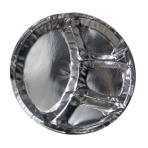 Three Compartment Paper Plate