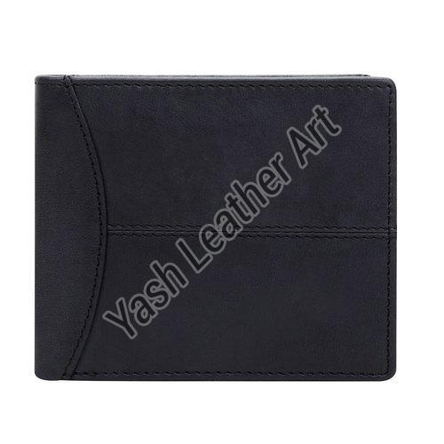 6 Card Slot Mens Black Leather Wallet