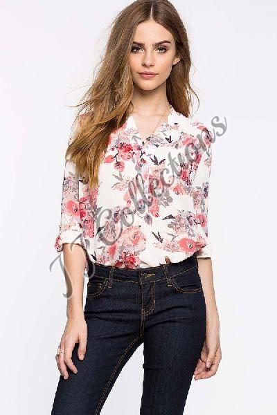 Ladies Floral Print Shirts