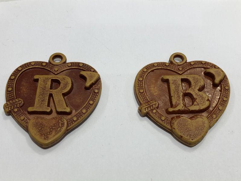 Heart Alphabet Keychain