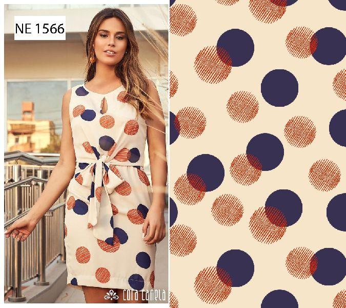 Digital Print Western Dress
