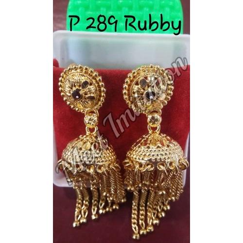 Brass Festive Wear Earrings