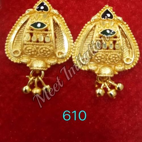 Brass Stylish Earrings