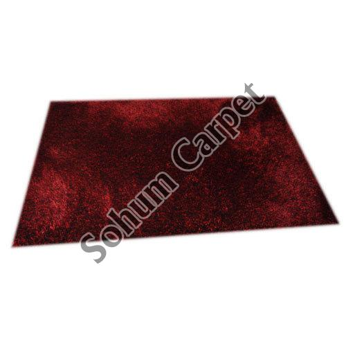 Dark Red Shaggy Carpet