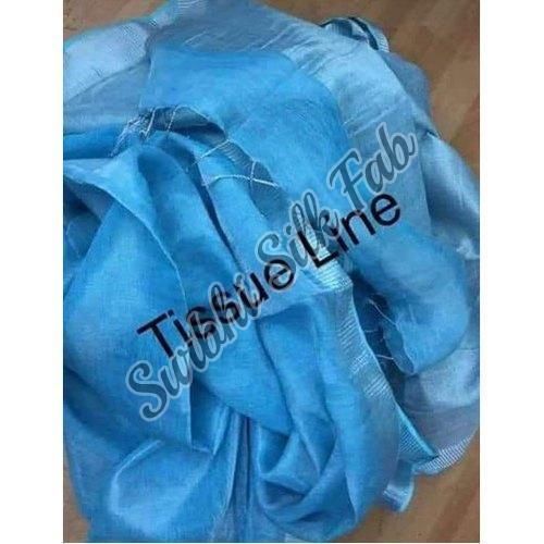 Blue Tissue Linen Saree