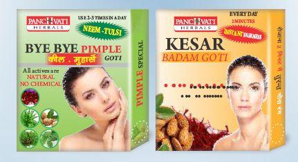 Kesar Badam and Bye Bye Pimple Goti