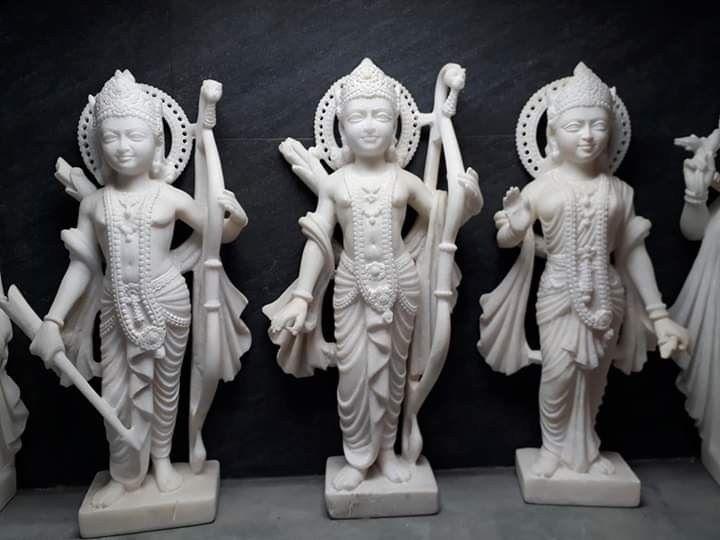 Marble Ram Sita Laxman Statue