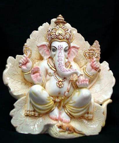 Multicolor Marble Ganpati Statue