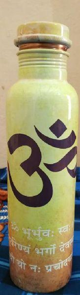 Om Printed Copper Bottle