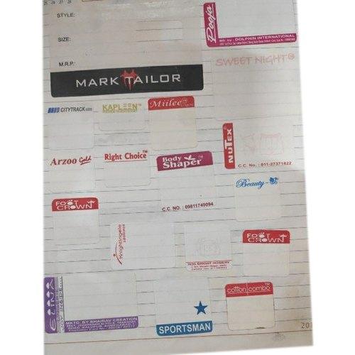 Polyester Undergarment Label