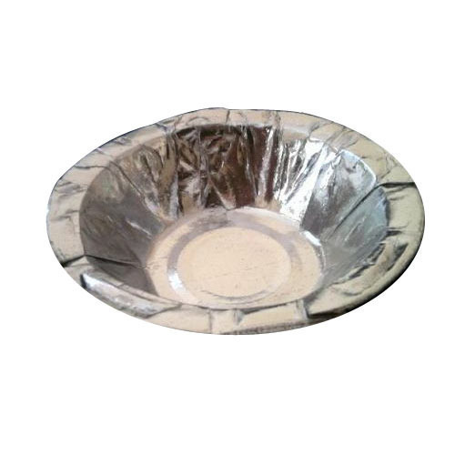 6 Inch Silver Laminated Paper Bowl