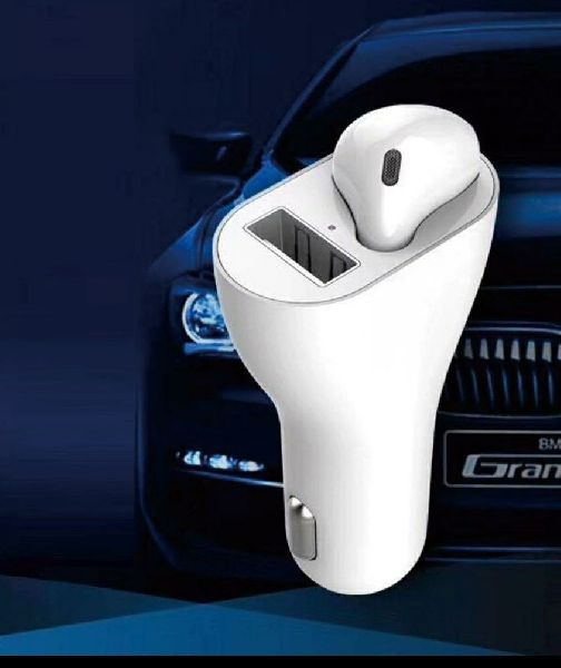 2 in 1 Car Bluetooth Headset