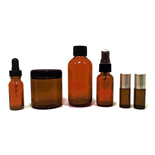 Brown Spray Glass Bottles