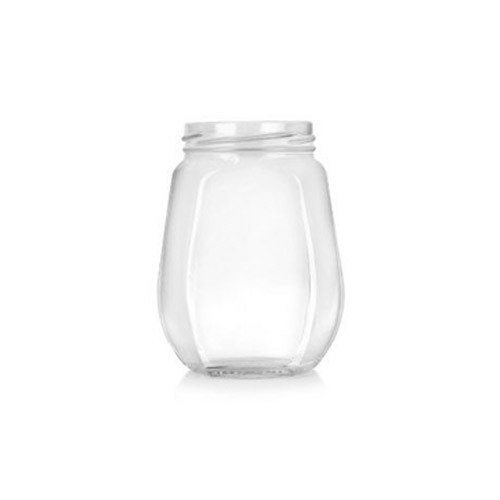 Honey Glass Jar (Hexagonal 500 ml)