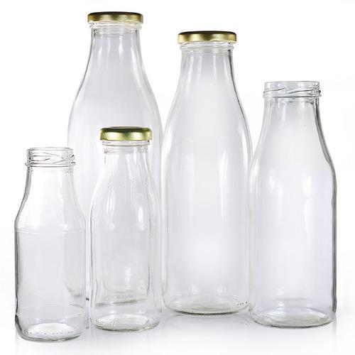 Milk Glass Bottles (Round)