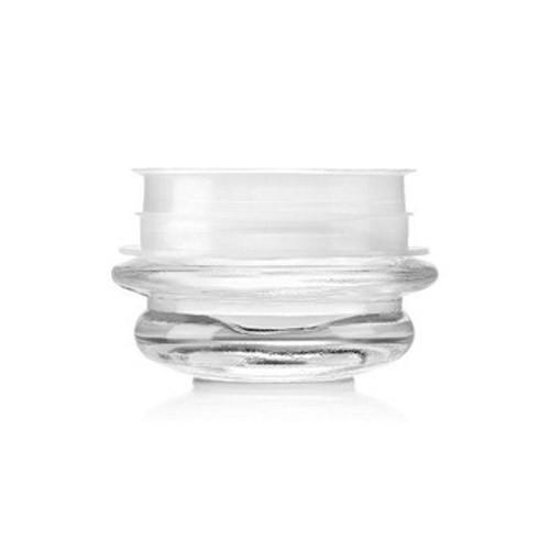 Transparent Curved Glass Jars