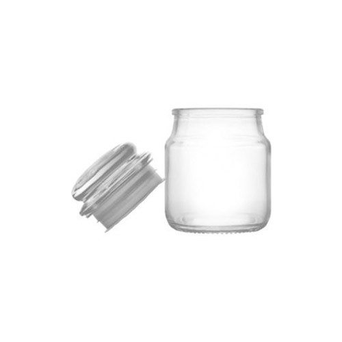 White Curved Glass Jars