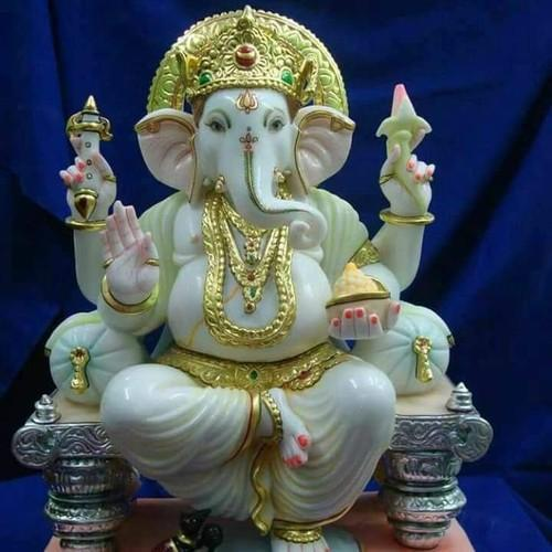 Printed Marble Ganesh Statue