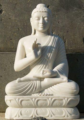 White Marble Buddha Statue