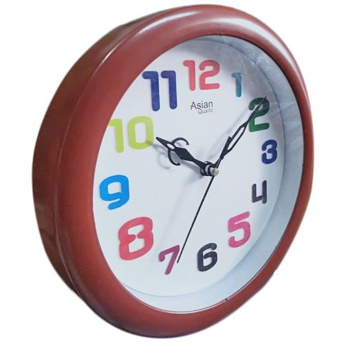 Brown Round Wall Clock