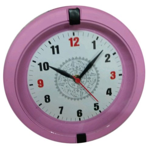 Pink Round Wall Clock
