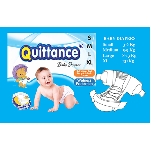Quittance Disposable Baby Diapers Medium