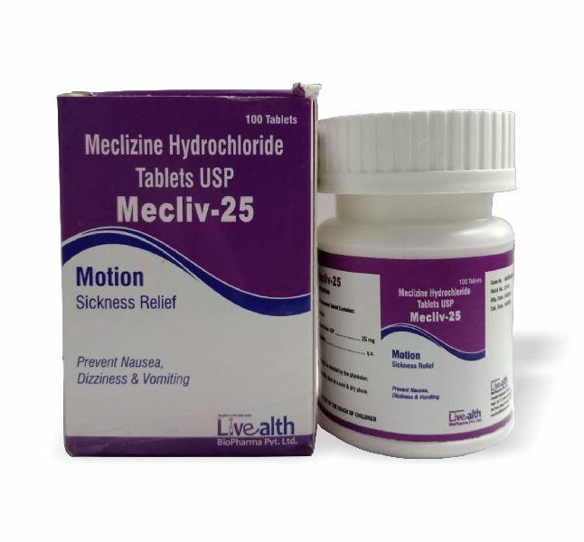 Meclizine Hydrochloride Tablets