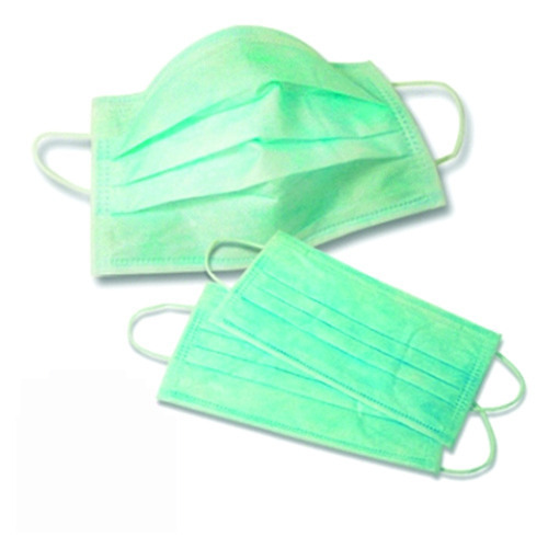 Green 3 Ply Face Masks