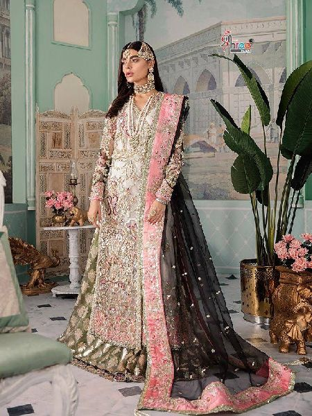 Shree Fab Crimsom Luxury Pakistani Style Embroidered Suits