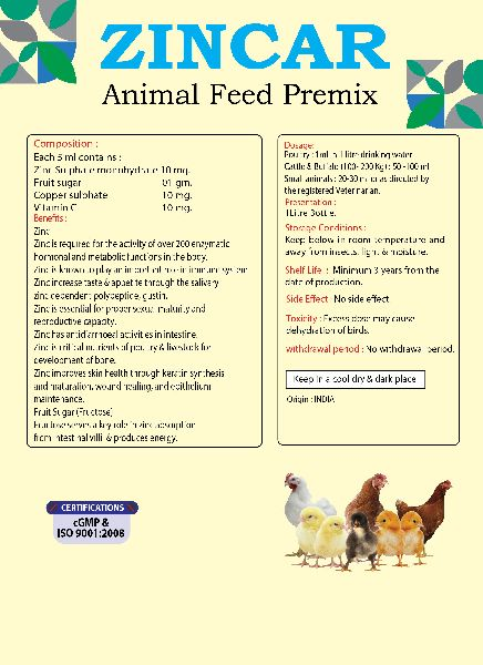 Zincar Poultry Feed Supplement