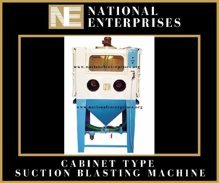 Cabinet Suction Type Sand Blasting Machine