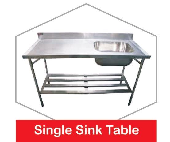 Stainless Steel Single Sink Table